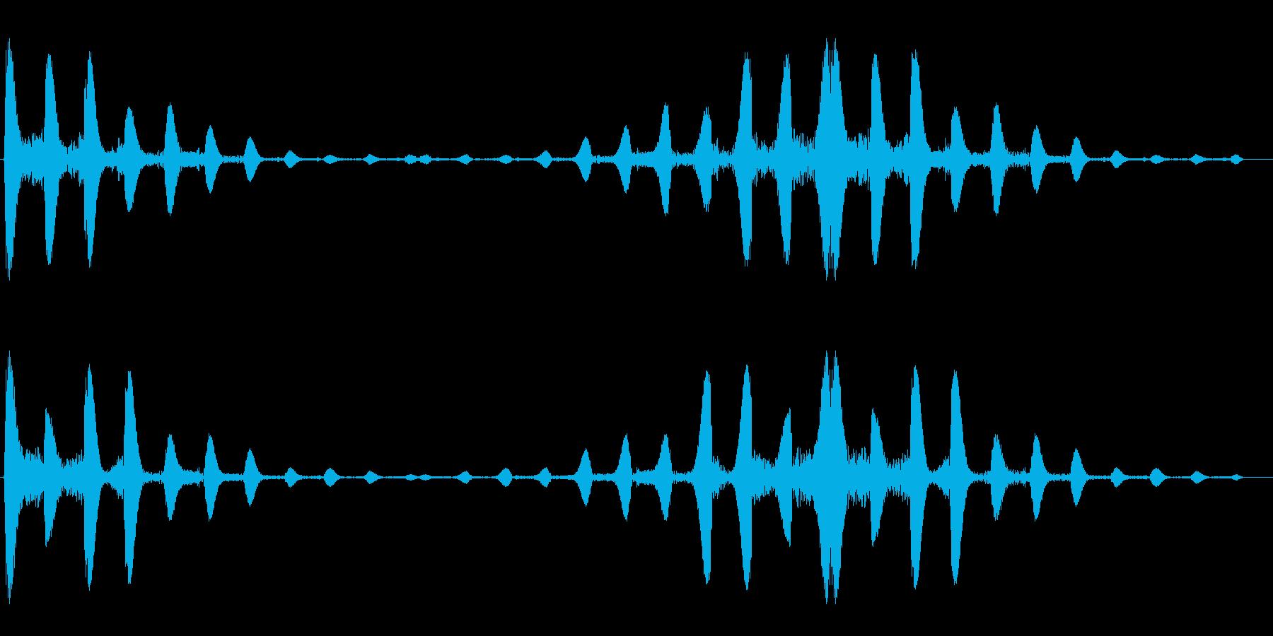 ポコポコ(水中の気泡を連想させる効果音)の再生済みの波形