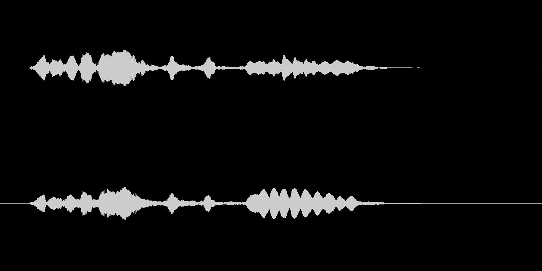 メルヘンな管楽器の効果音の未再生の波形