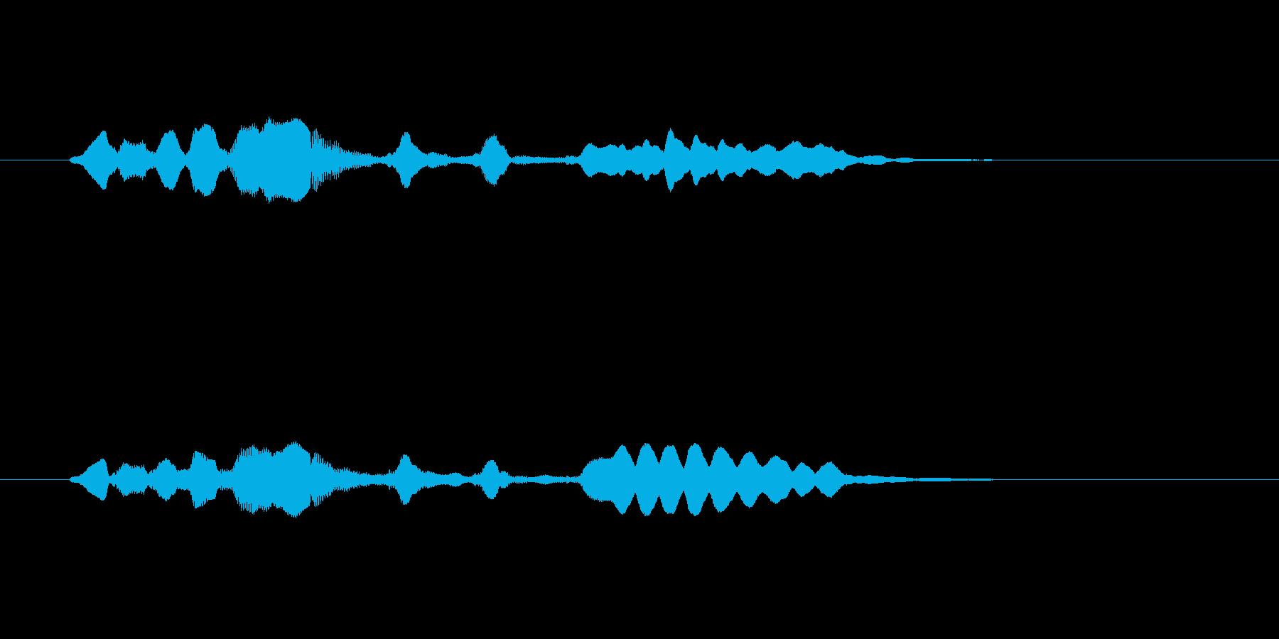 メルヘンな管楽器の効果音の再生済みの波形