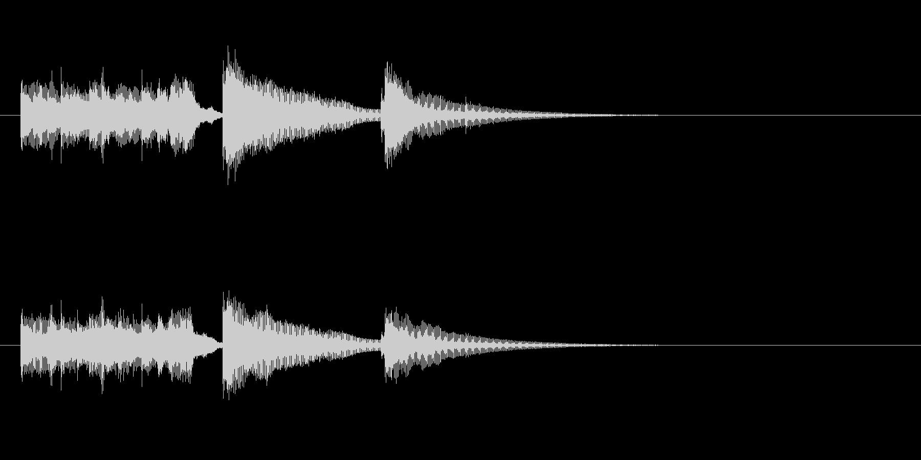 ジングル(アコースティック・バージョン)の未再生の波形