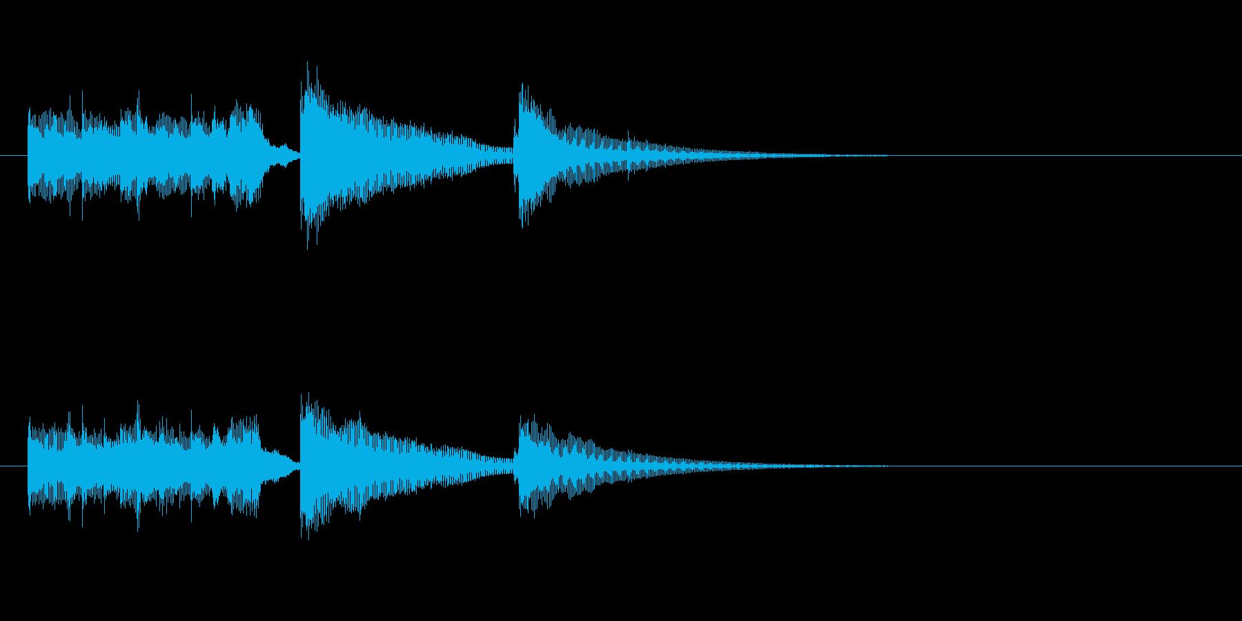 ジングル(アコースティック・バージョン)の再生済みの波形