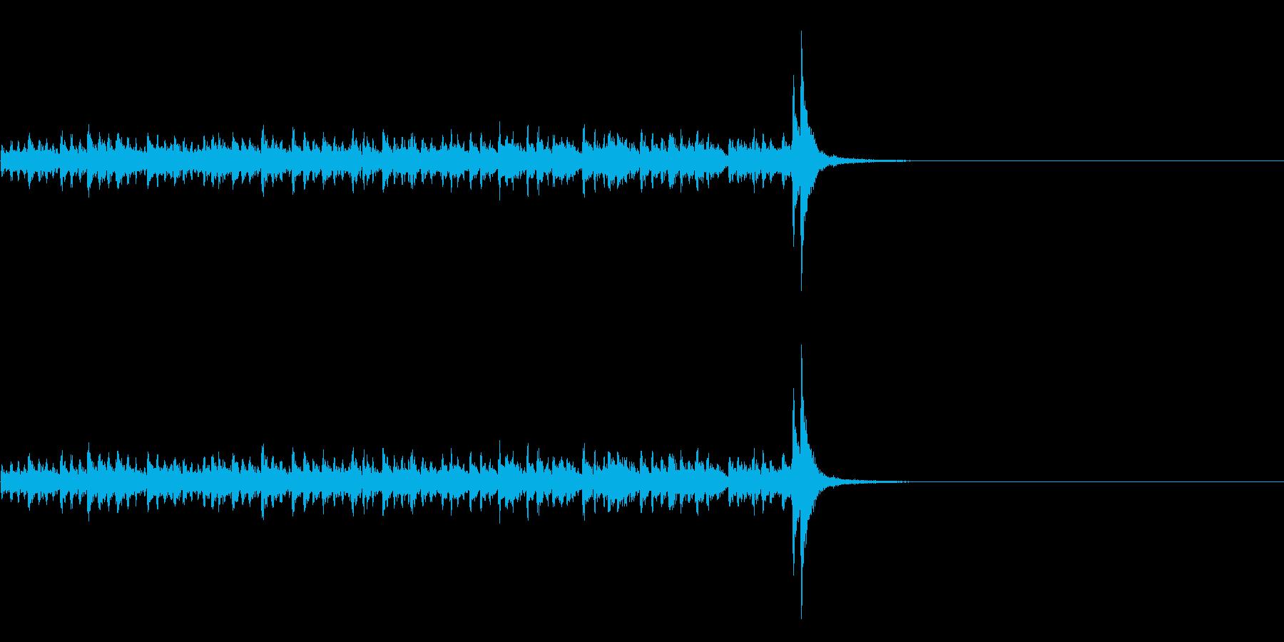 スタタタ タン! スネアロール1ミドルの再生済みの波形