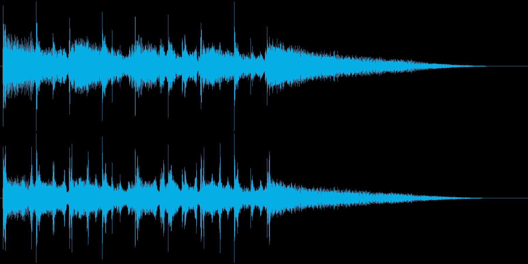 ギターコードとベースのメローなジングル1の再生済みの波形