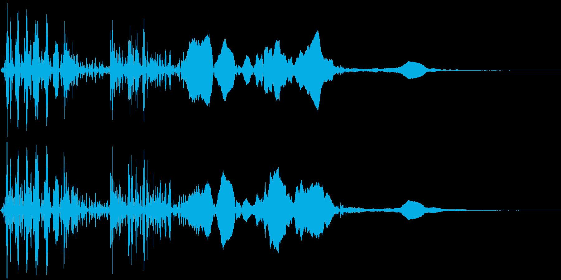 木のドアを開ける(癖のない音)の再生済みの波形