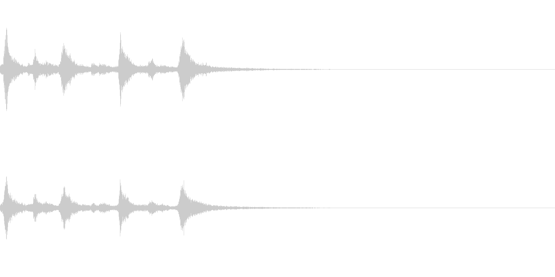 クリスマスのベル、鈴の効果音 ロゴ05の未再生の波形