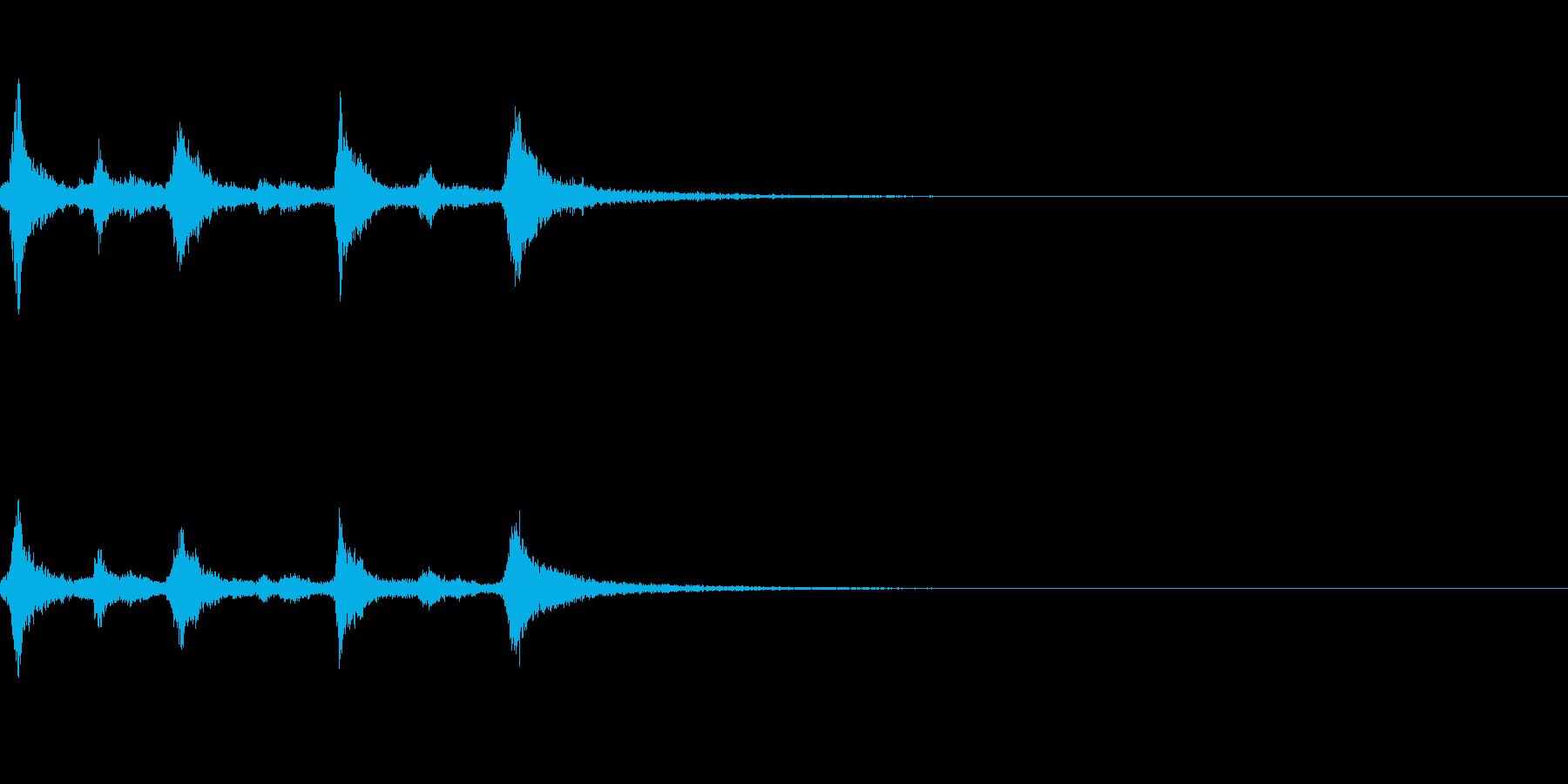 クリスマスのベル、鈴の効果音 ロゴ05の再生済みの波形