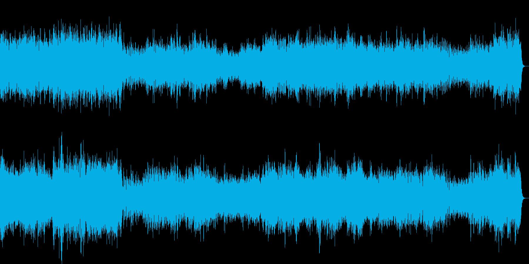 チェンバロの豪華な曲・1楽章(バッハ)の再生済みの波形