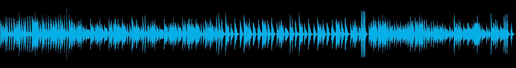ピアノ 元気 明るい スキップ ループの再生済みの波形