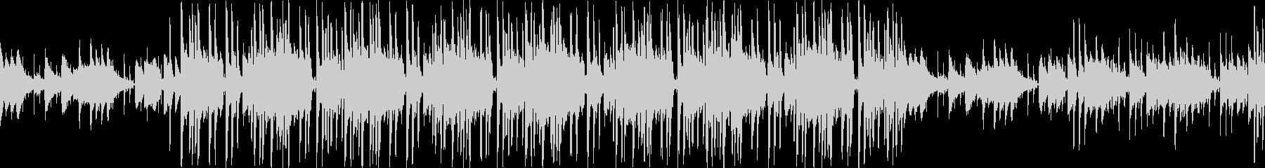 おしゃれなピアノのヒップホップ調ループの未再生の波形