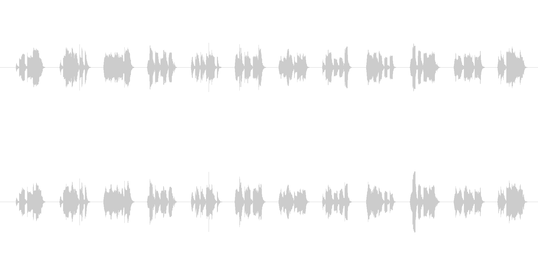 ロボット系ピコピコ音。の未再生の波形