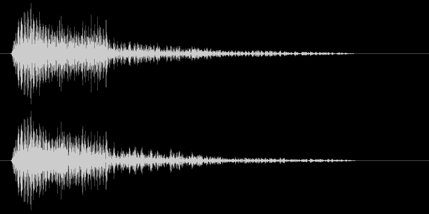 アイテムに触れたときの音の未再生の波形