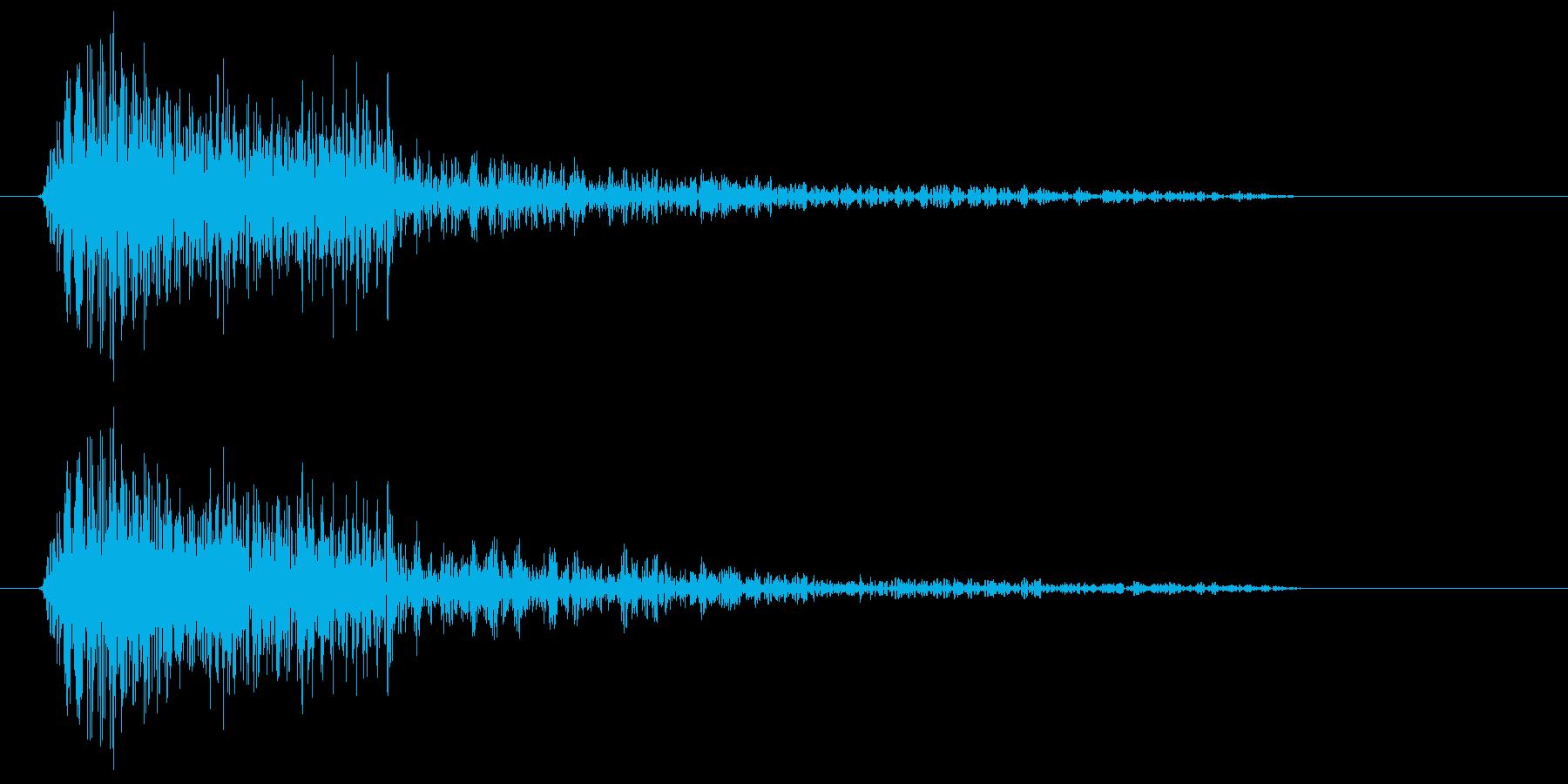 アイテムに触れたときの音の再生済みの波形
