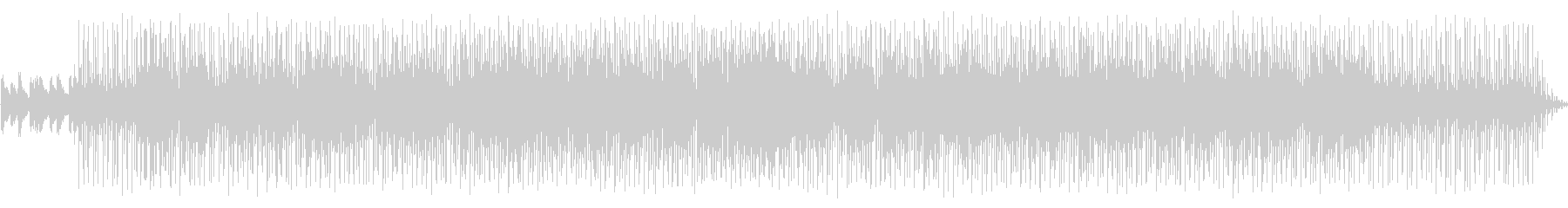シンセサイザーによるジャズファンクの未再生の波形