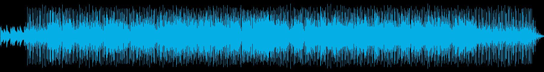 シンセサイザーによるジャズファンクの再生済みの波形