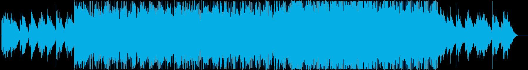 草原を駆け抜けるイメージのBGMの再生済みの波形