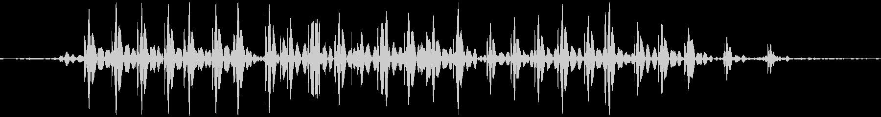 ブゥ。おならの音(低め・短め)の未再生の波形