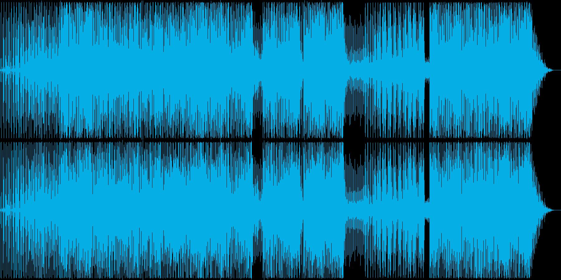 スピード感あるシンセが効いたヒップホップの再生済みの波形
