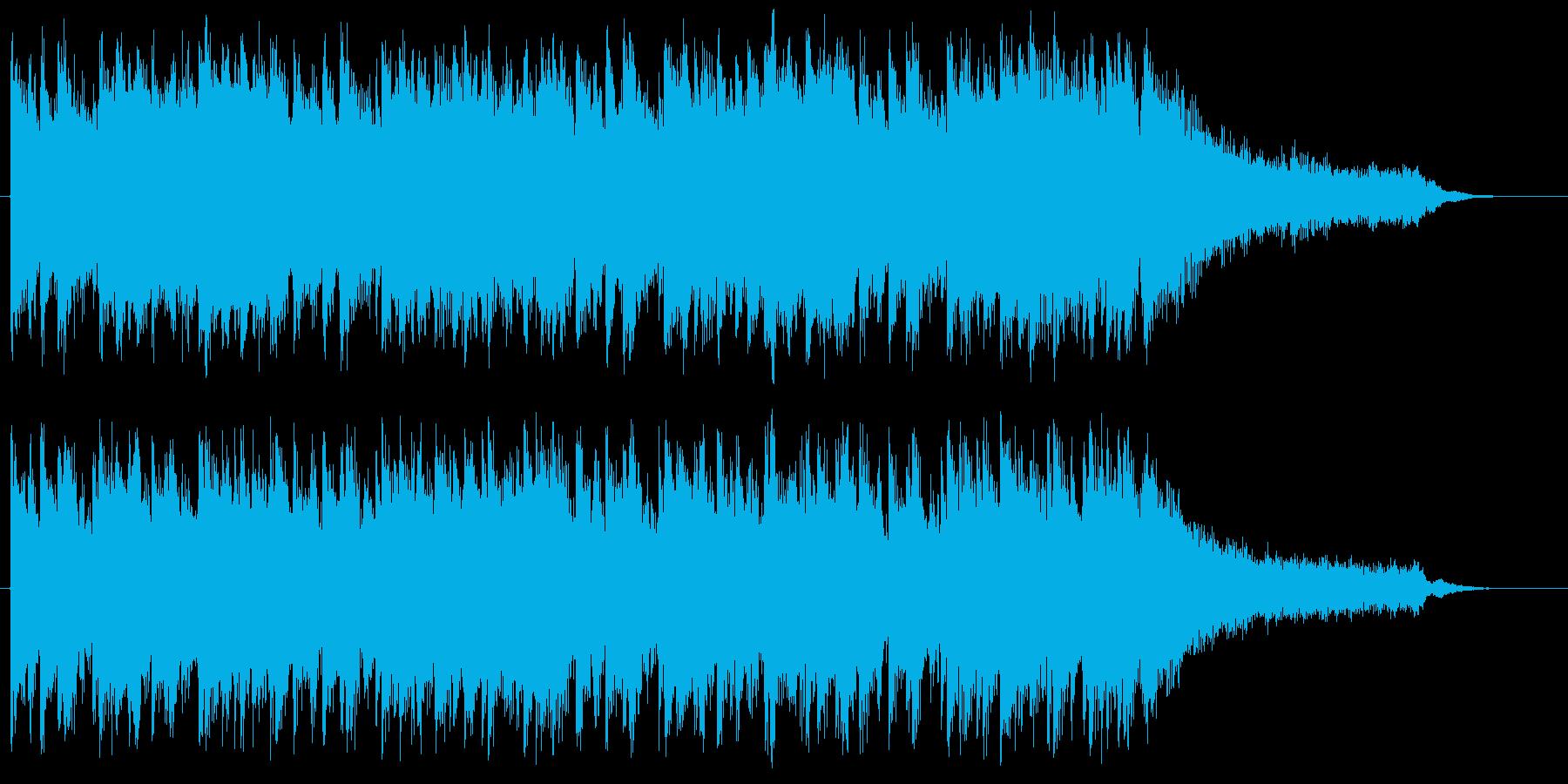 軽快、パワフルなアコースティックジングルの再生済みの波形