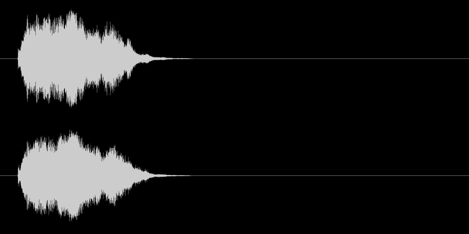 ジングル/SE(爽やか場面転換風)の未再生の波形