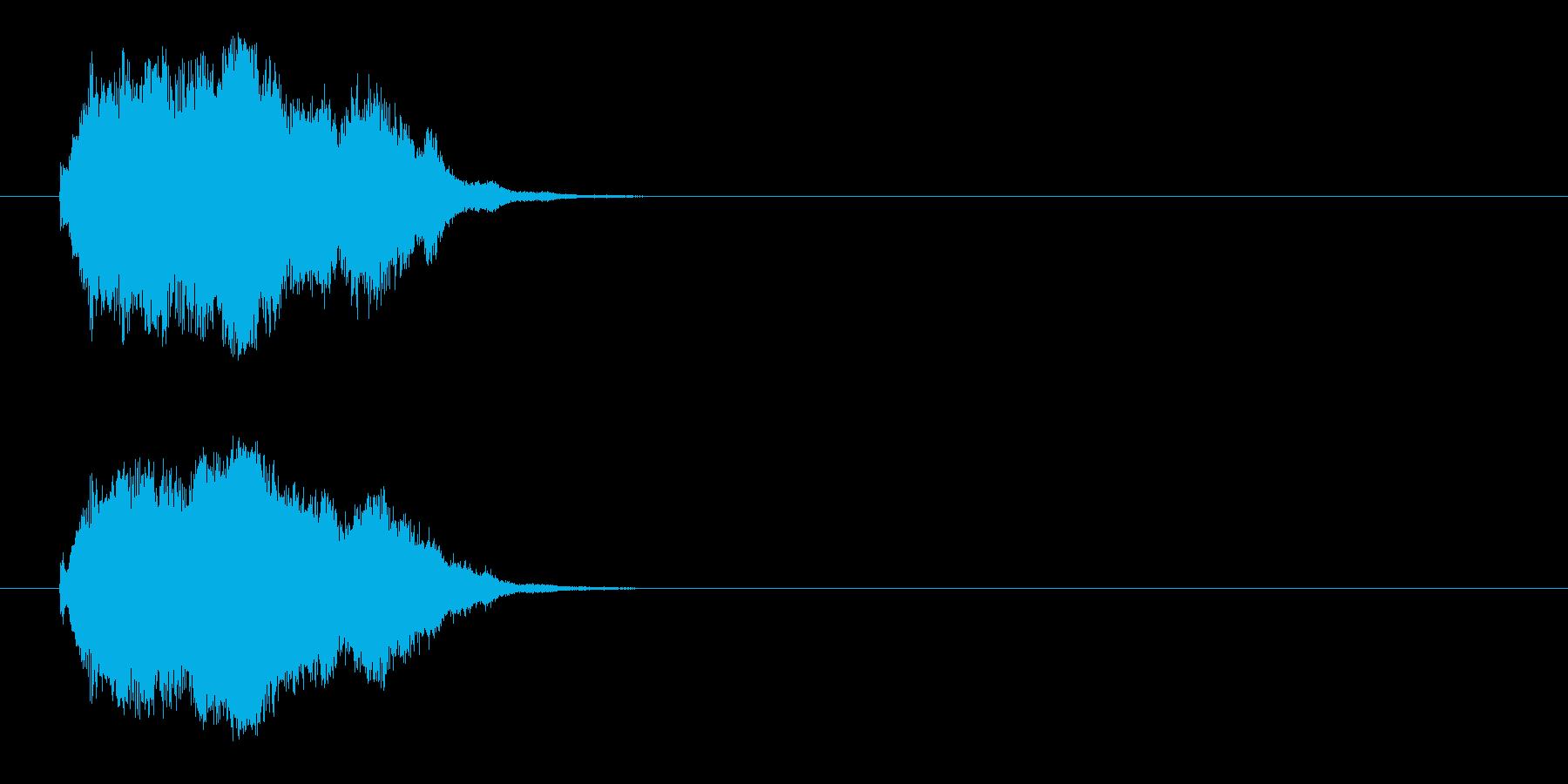 ジングル/SE(爽やか場面転換風)の再生済みの波形