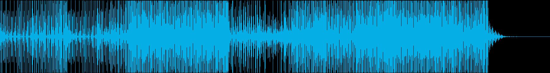 トランス風リズムトラックの再生済みの波形