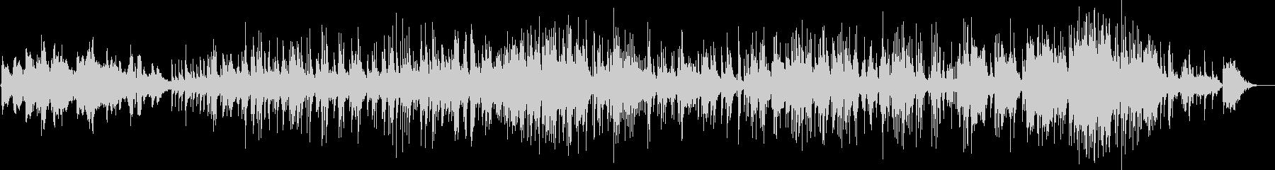ピアノカルテット情熱的なjazzバラードの未再生の波形
