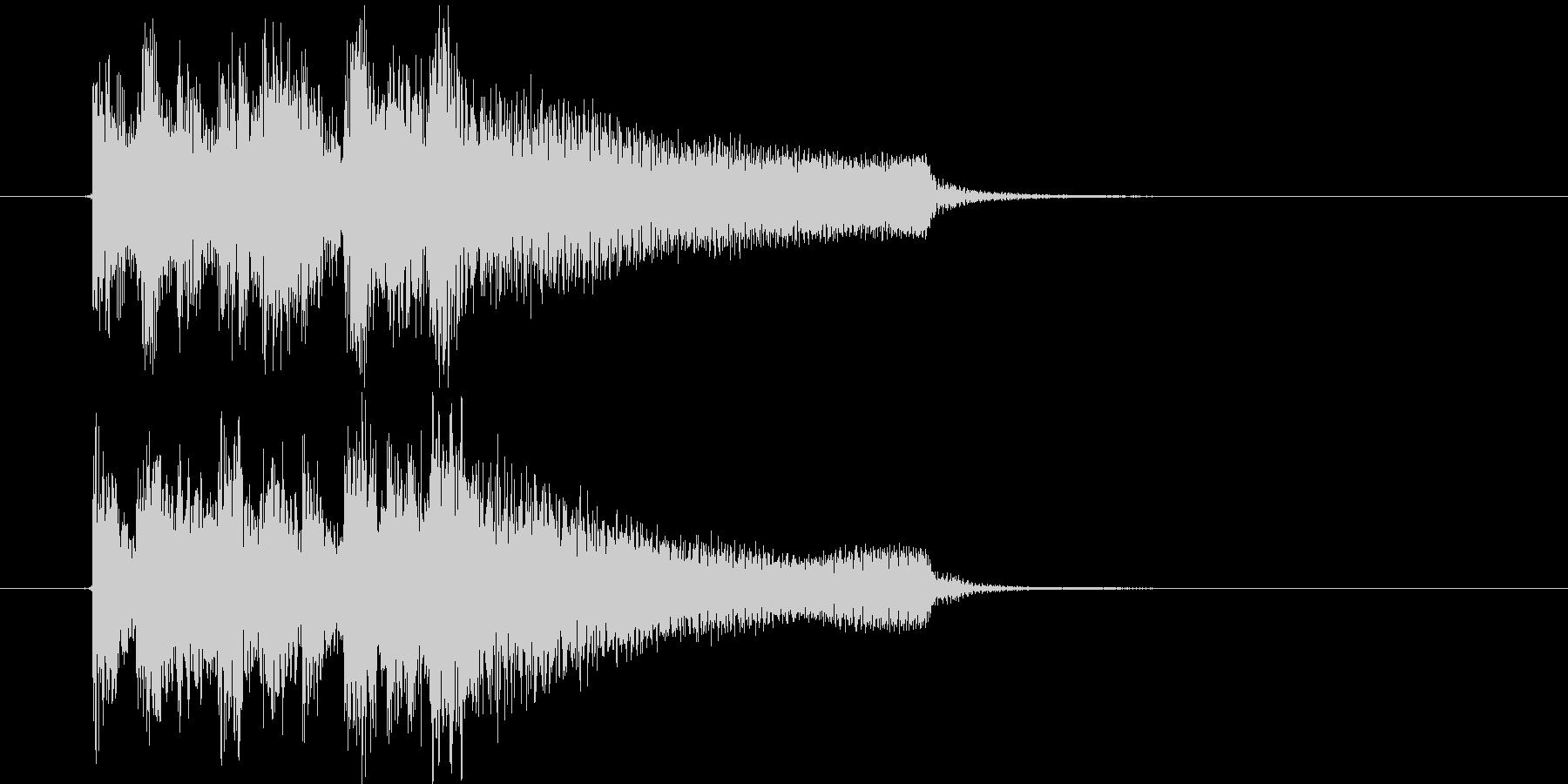 不穏な音のエレピのジングル、サウンドロゴの未再生の波形