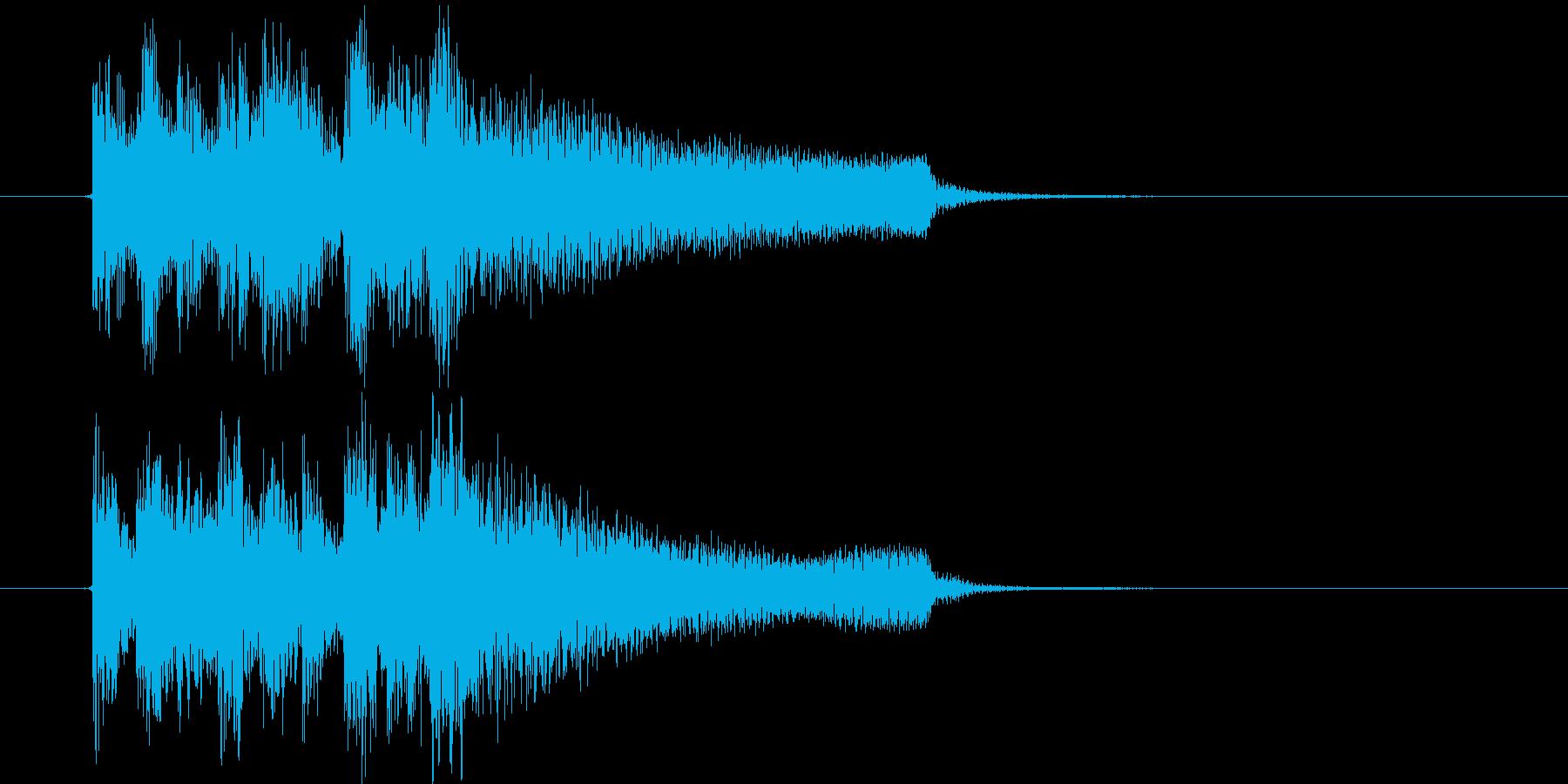 不穏な音のエレピのジングル、サウンドロゴの再生済みの波形