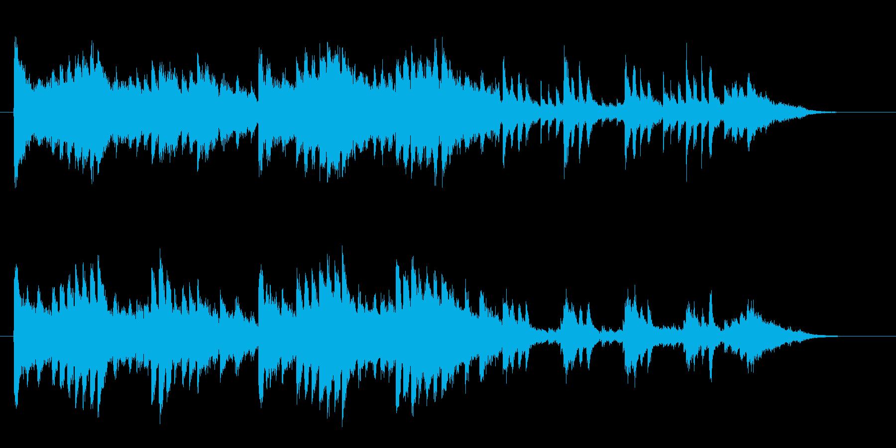 クラシカルで優しいピアノジングルの再生済みの波形