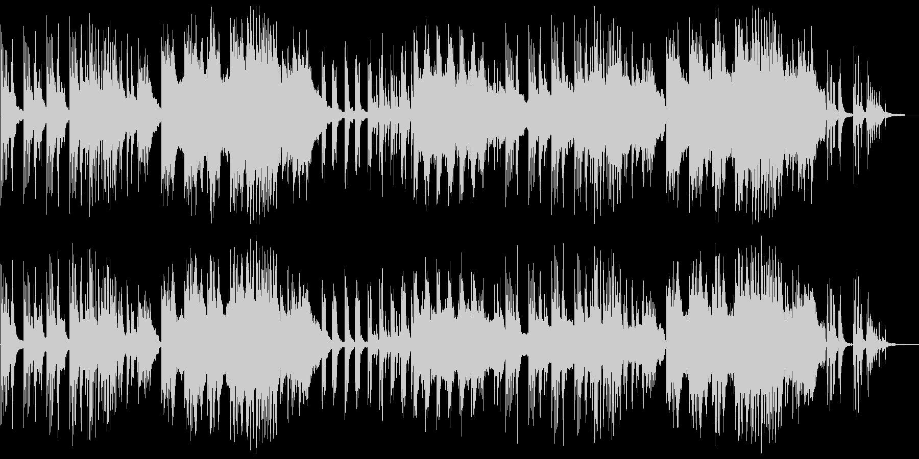 ピアノ、琴、ストリングスの和風バラードの未再生の波形