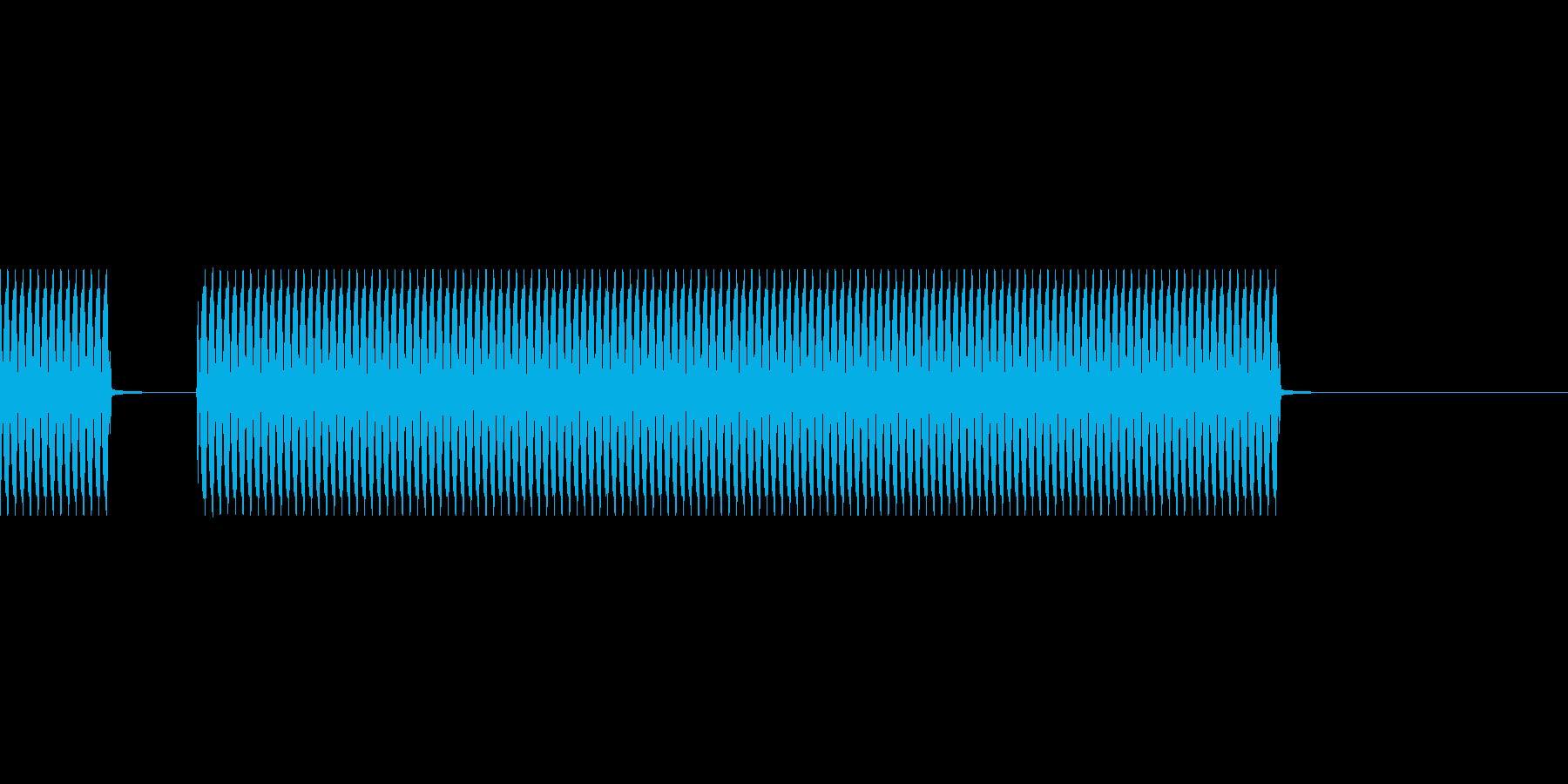 不正解の音の再生済みの波形