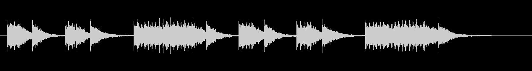 マーチングバンドのスネアリズム1の未再生の波形