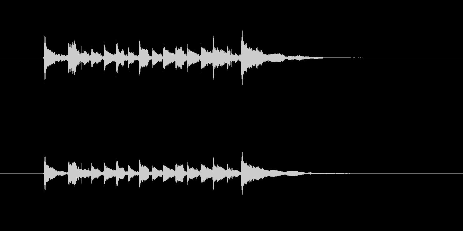 美しいギターメロディー(弦、弾く)の未再生の波形