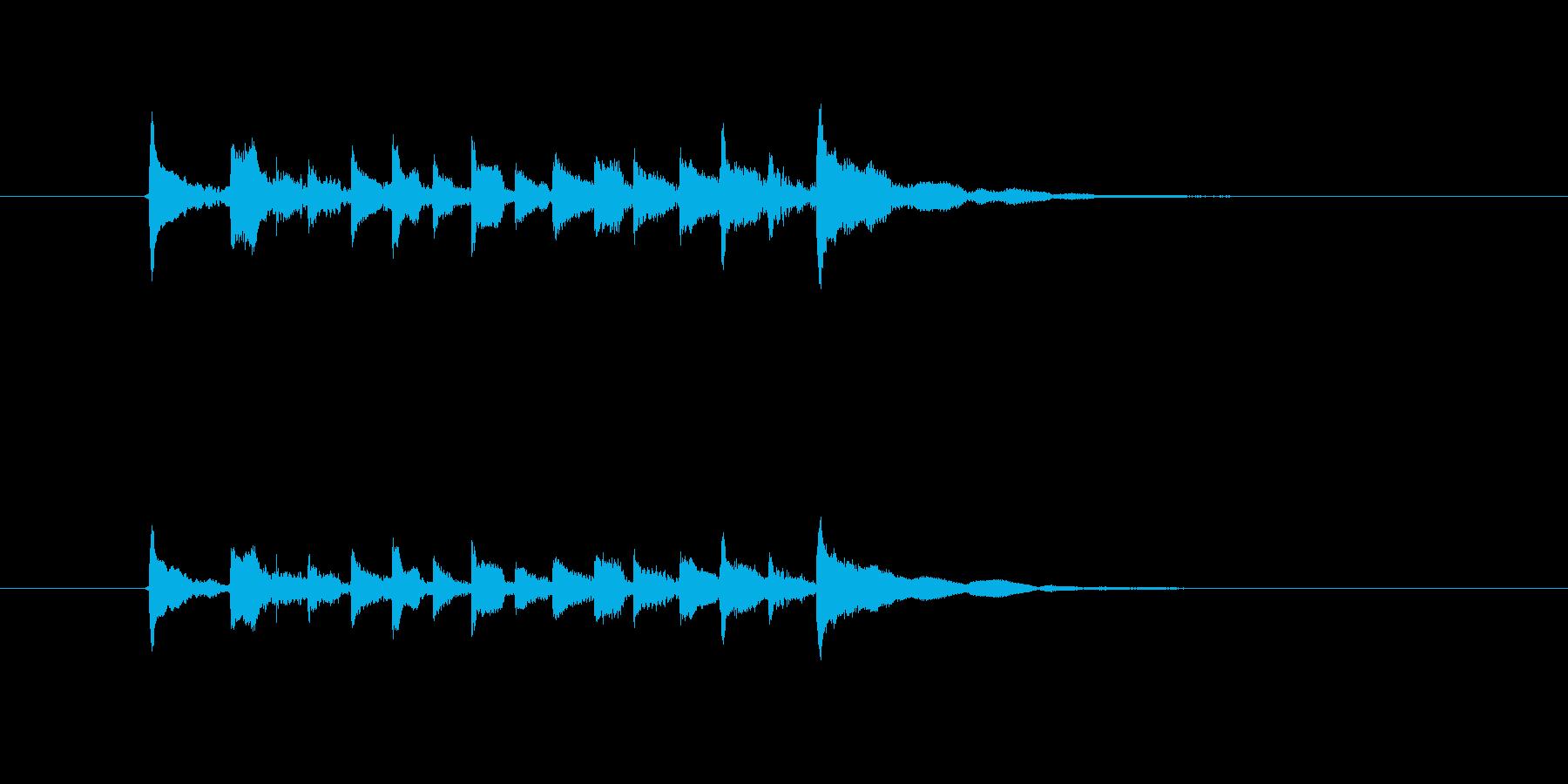 美しいギターメロディー(弦、弾く)の再生済みの波形