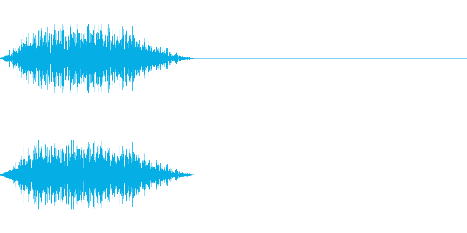 唸る獣の再生済みの波形