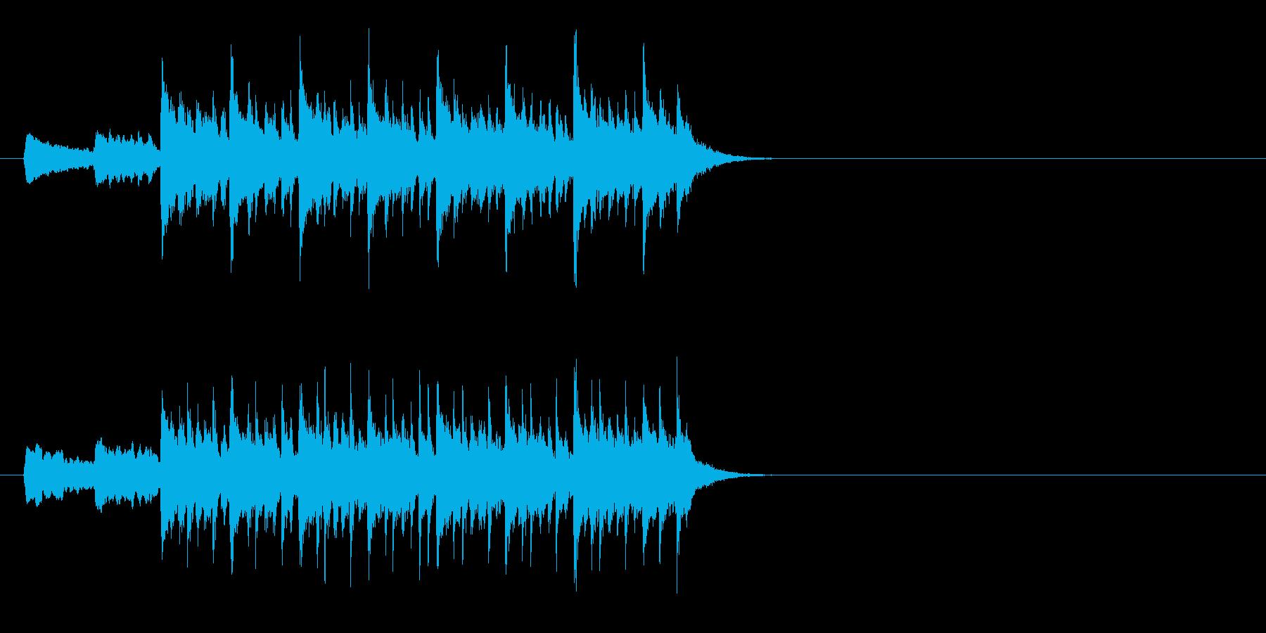 バイオリンが特徴的なラテン系ジングルの再生済みの波形