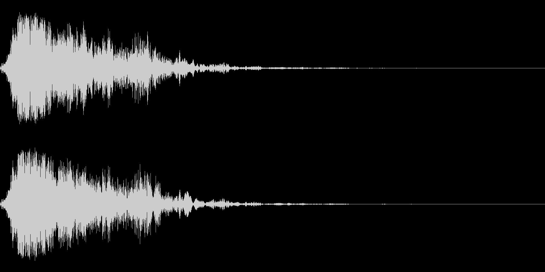 ホラー音01(うめき声)の未再生の波形