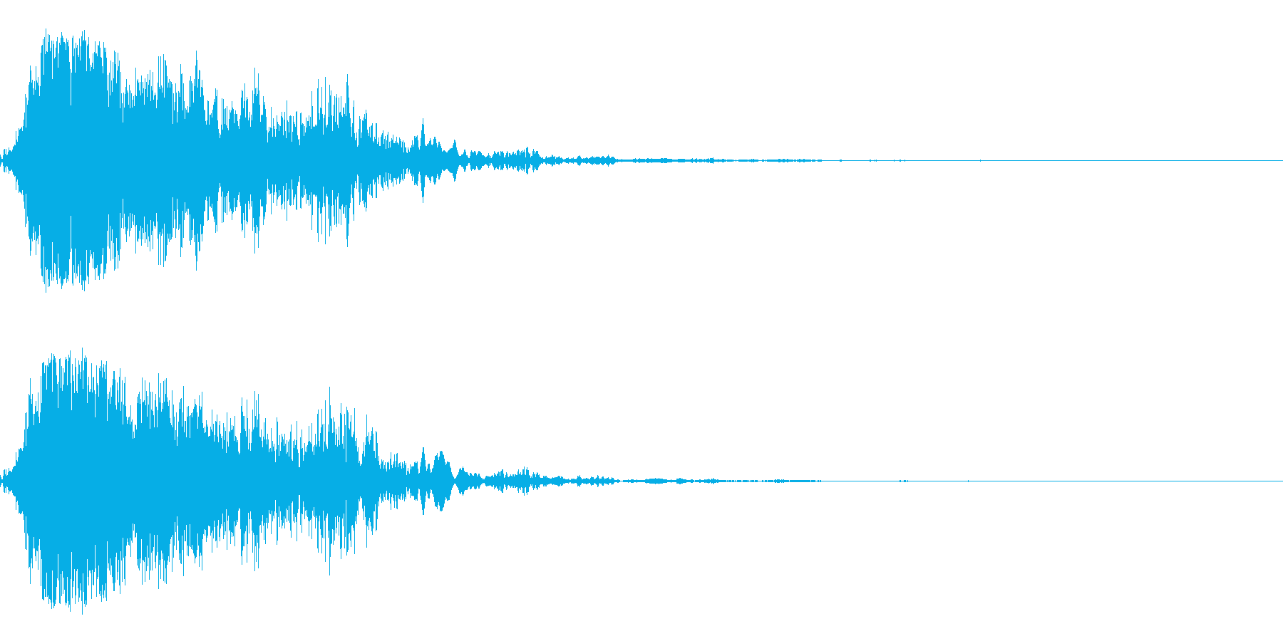 ホラー音01(うめき声)の再生済みの波形