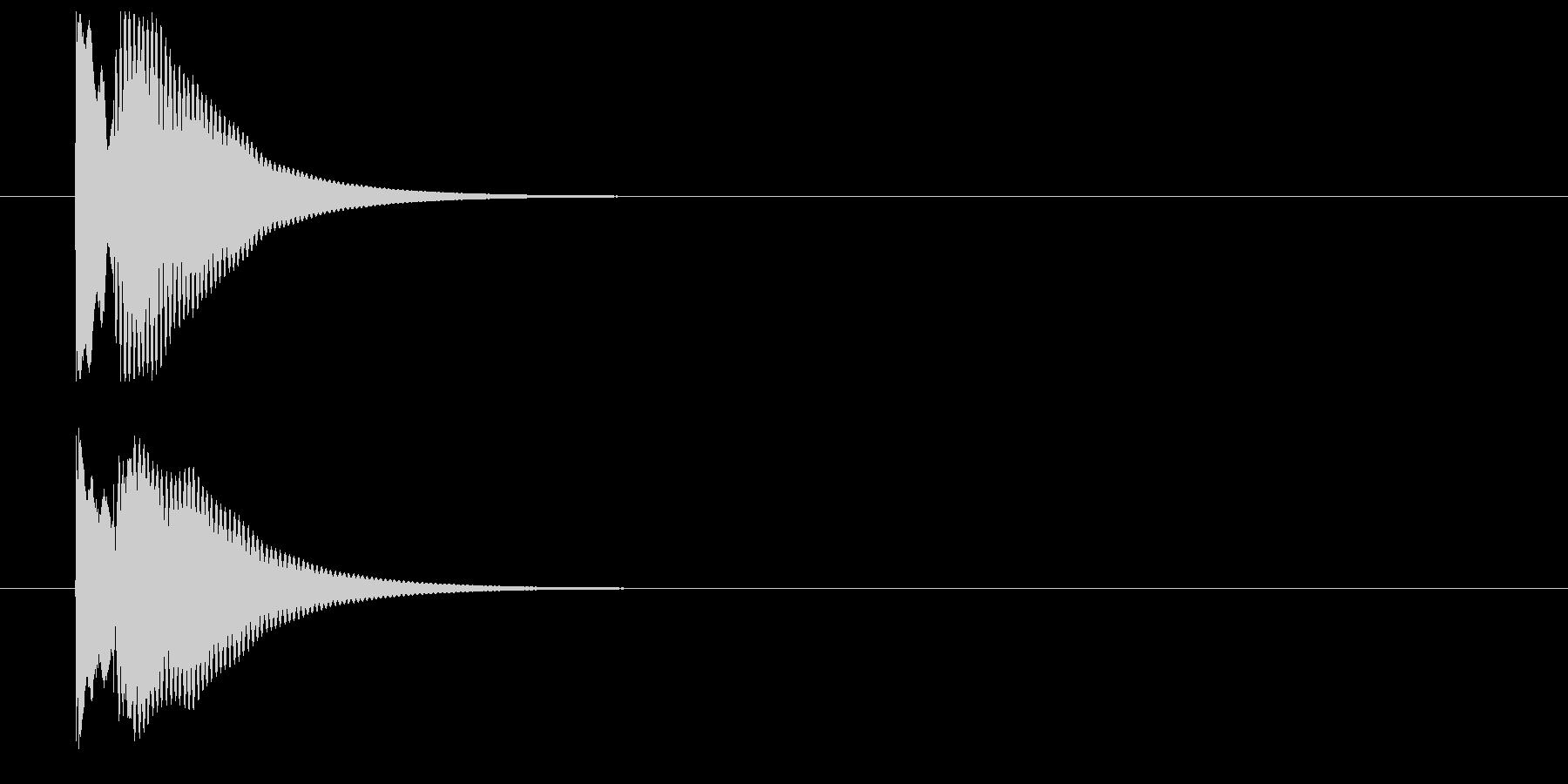木琴によるキャンセル音の未再生の波形