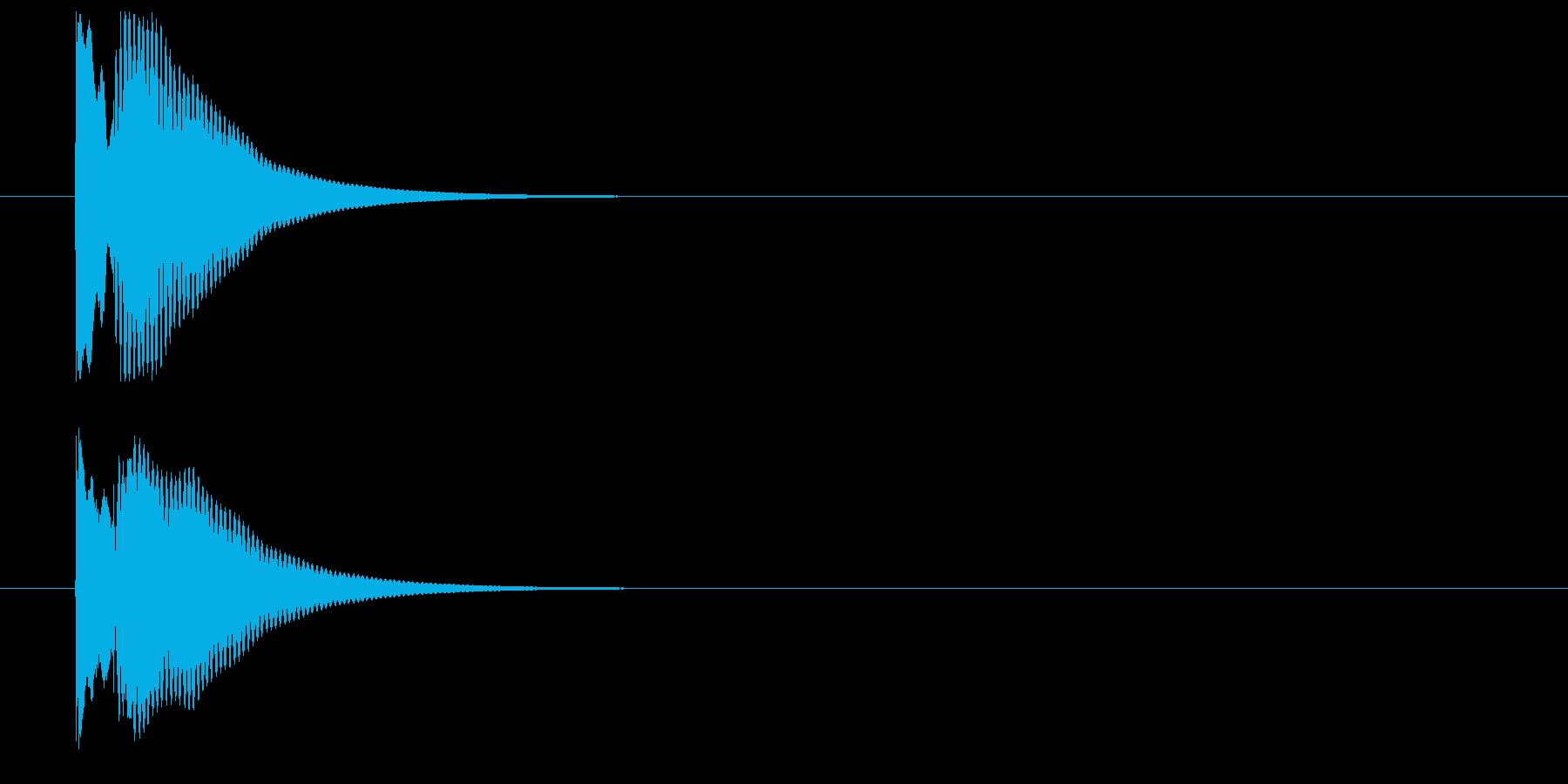 木琴によるキャンセル音の再生済みの波形