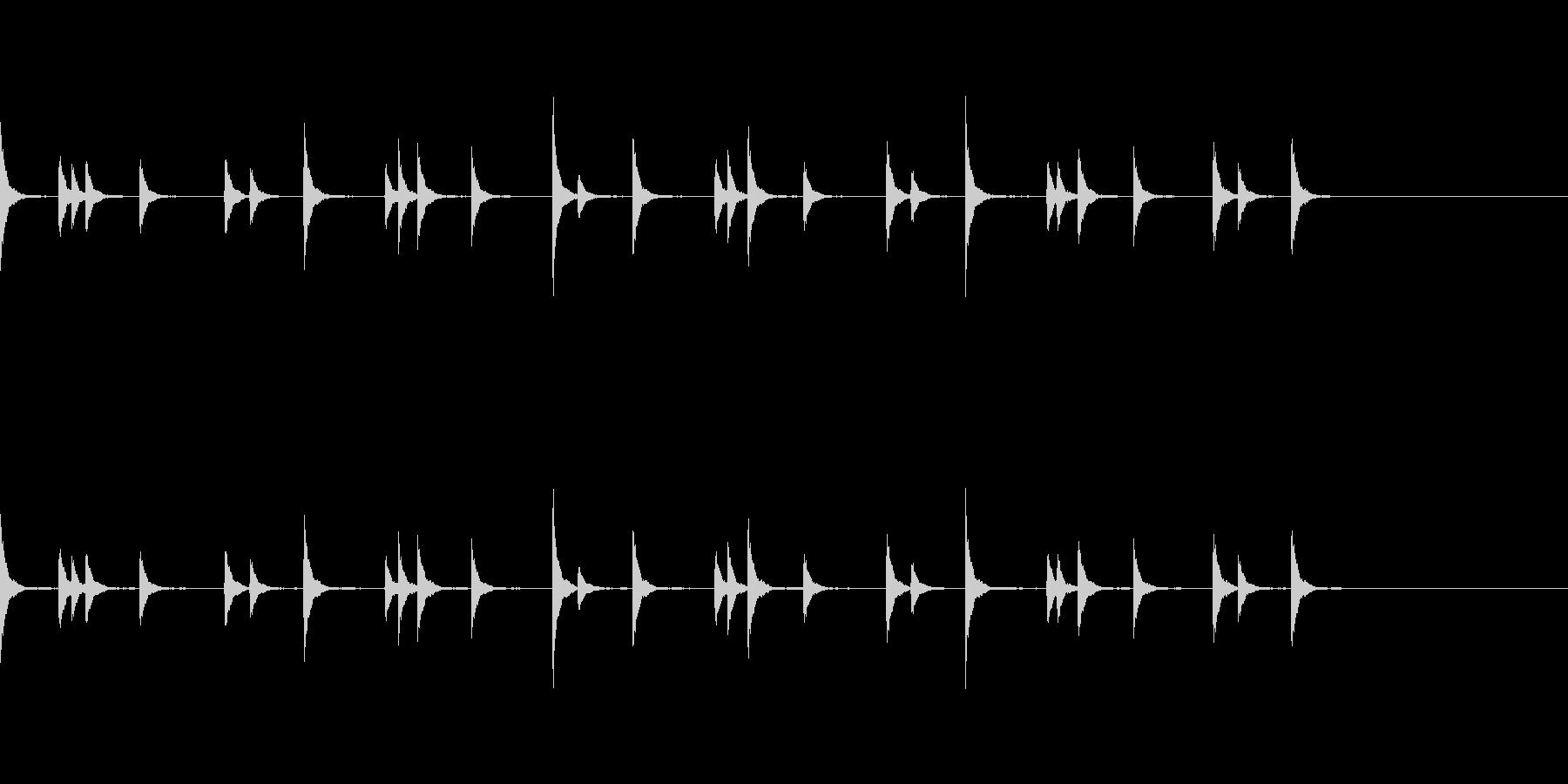 音侍 お囃子の当たり鉦のループ音リバーブの未再生の波形