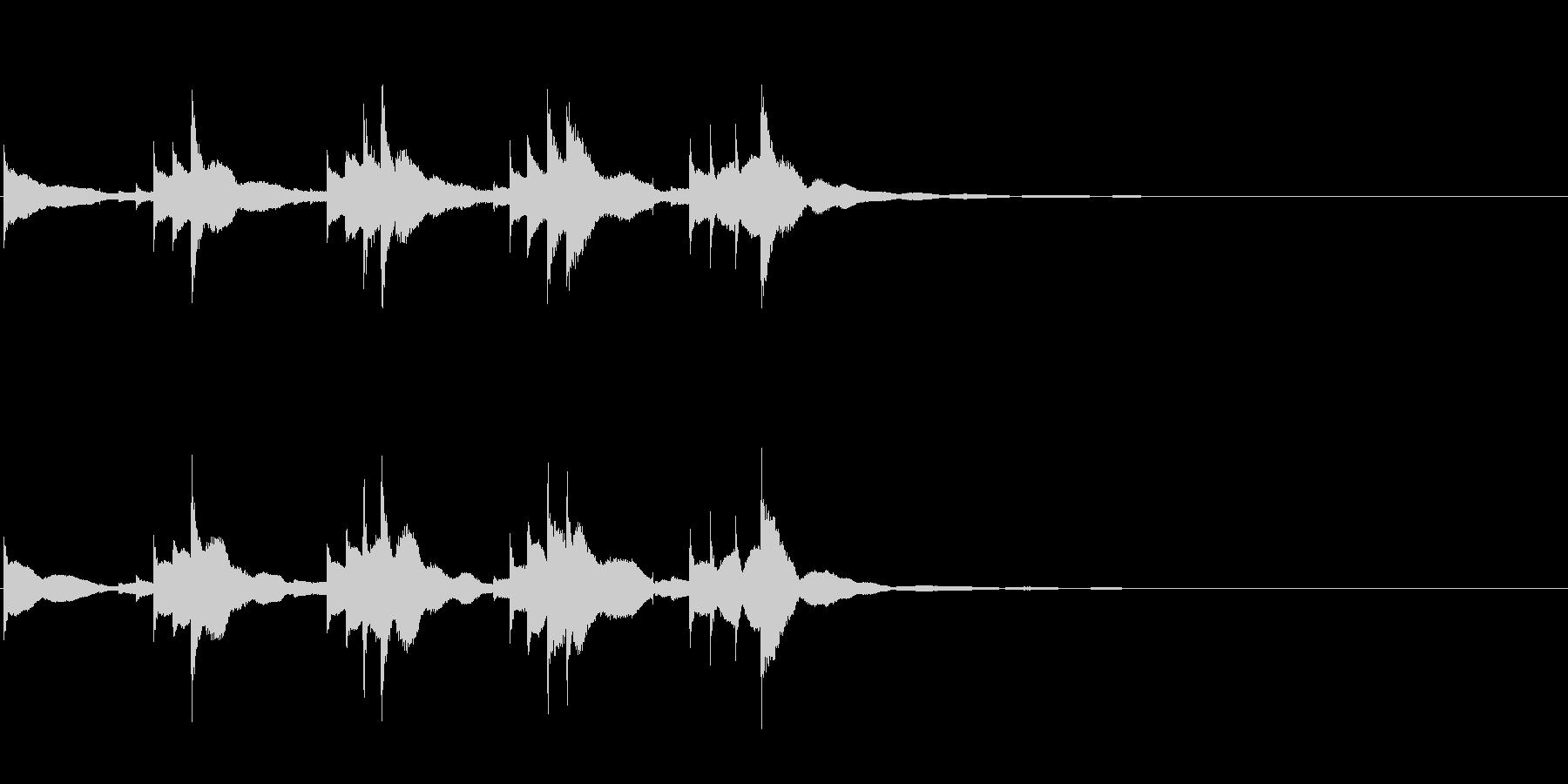 小型の鐘「本つり鐘」のフレーズ音1+Fxの未再生の波形