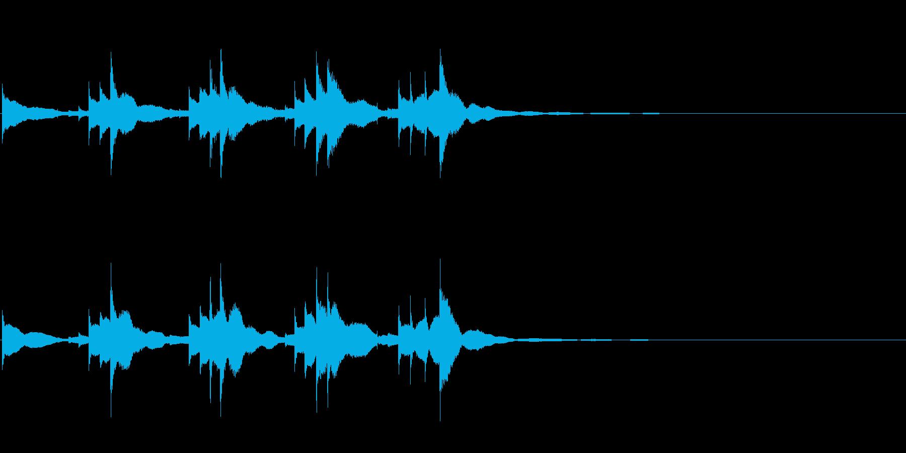 小型の鐘「本つり鐘」のフレーズ音1+Fxの再生済みの波形