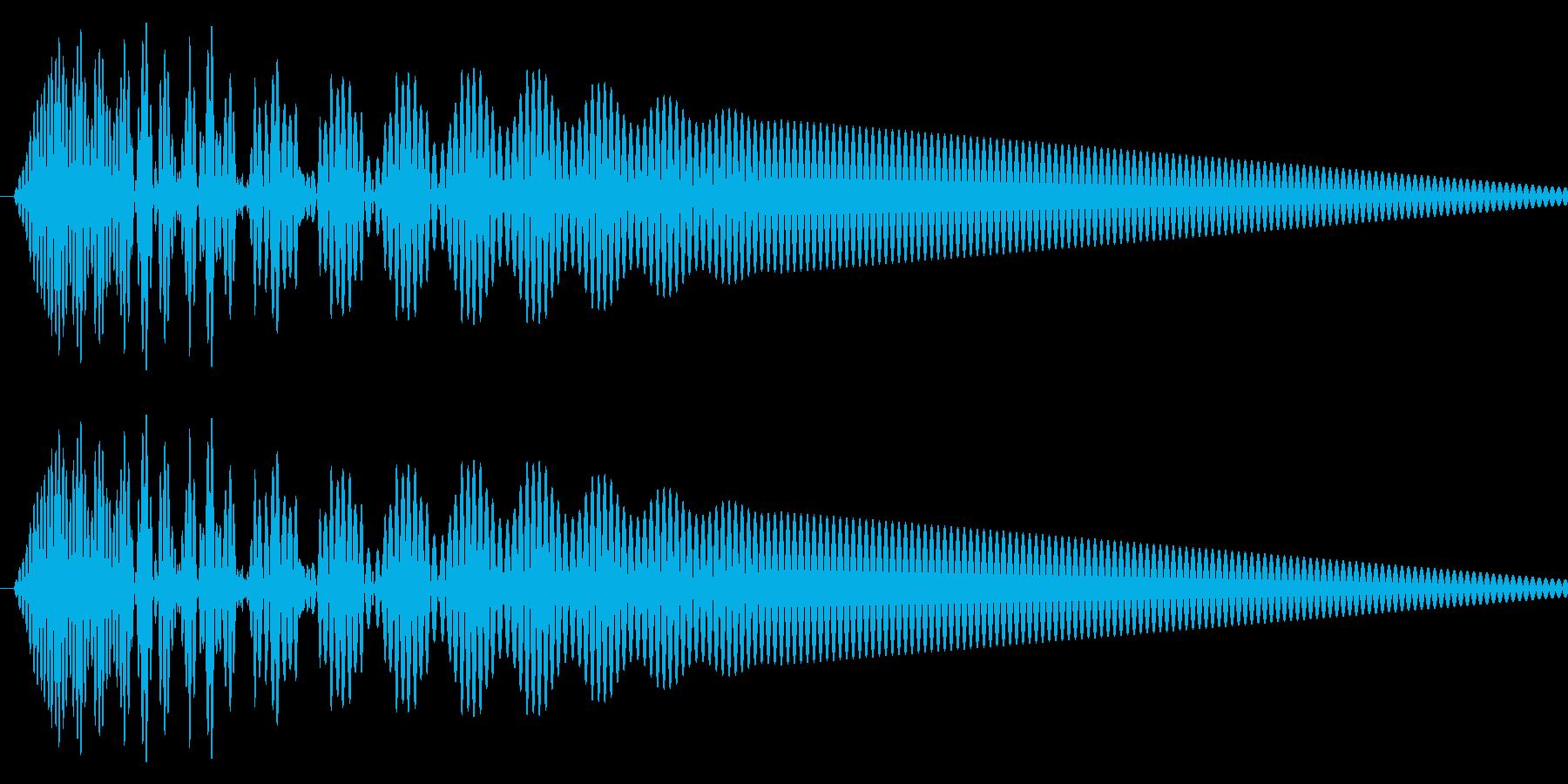 カーソル移動音2の再生済みの波形