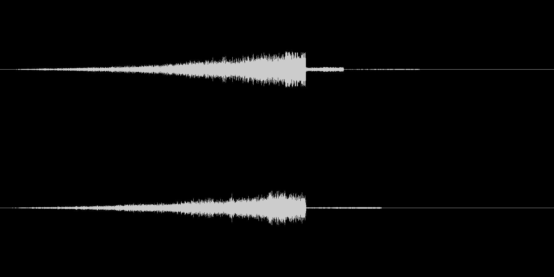 爽やかなヒュー ヒュインの未再生の波形