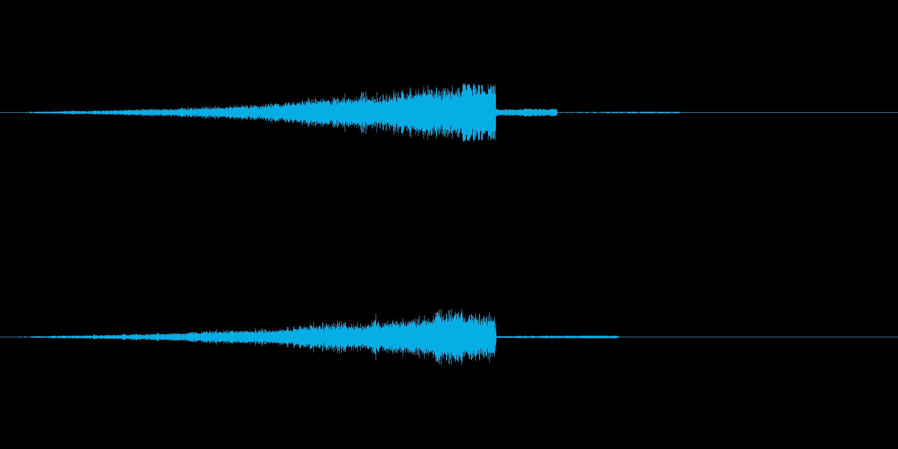 爽やかなヒュー ヒュインの再生済みの波形