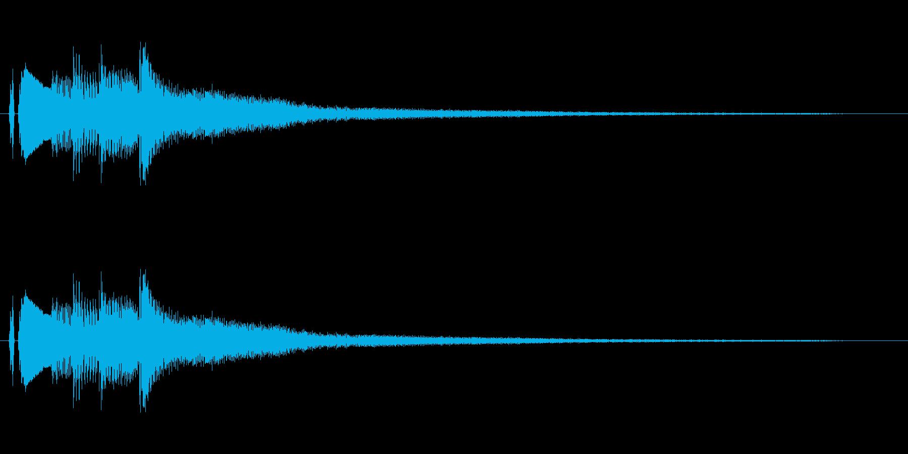 ピアノ。流れるようなフレーズ。の再生済みの波形