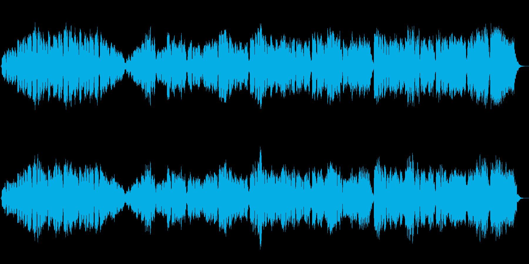 オリジナル木管三重奏の哀愁がある曲の再生済みの波形