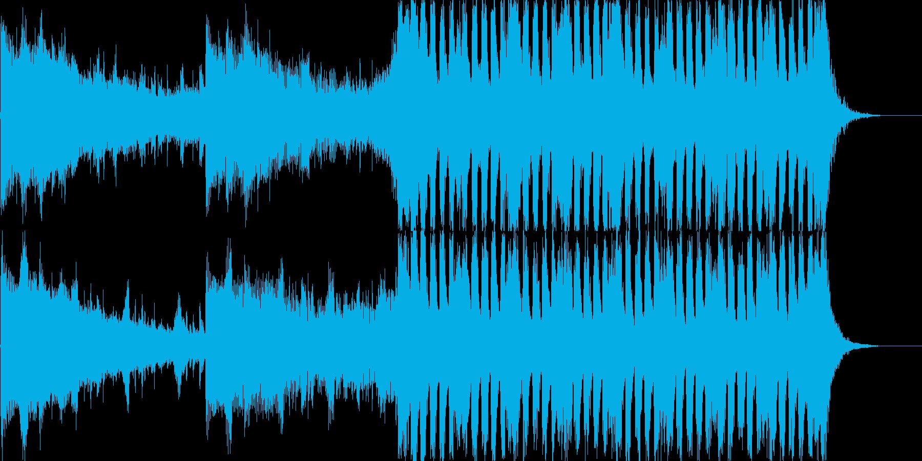 躍動的なストリングス 予告編音楽の再生済みの波形