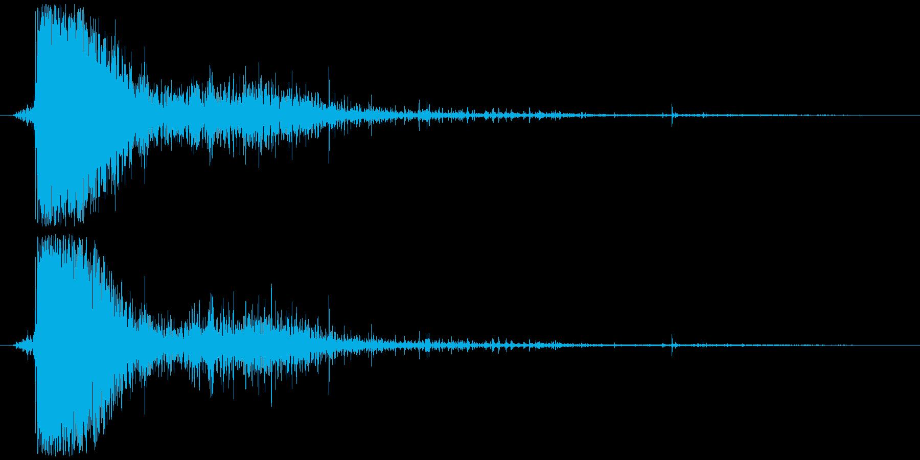 血しぶき (血が散る) ビシャッの再生済みの波形